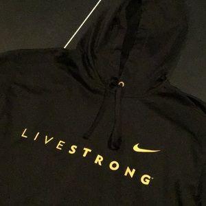 Men's XL Nike Black & Yellow LiveStrong Hoodie